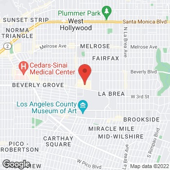 Map of Michael Kors at 189 The Grove Dr, Los Angeles, CA 90036