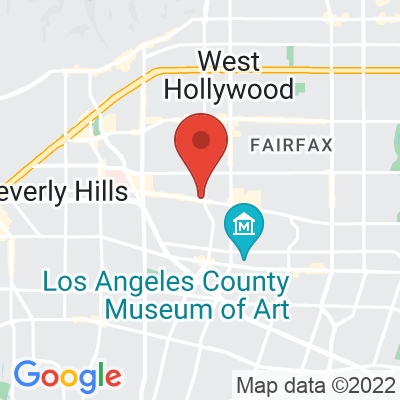 Map showing Groundwork Cofffee (BEVERLY GROVE ON 3RD)