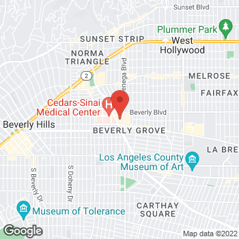 Map of BCBGMAXAZRIA at 8500 Beverly Blvd, Los Angeles, CA 90048