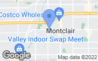 Map of Montclair, CA