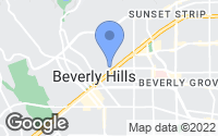 Map of Beverly Hills, CA