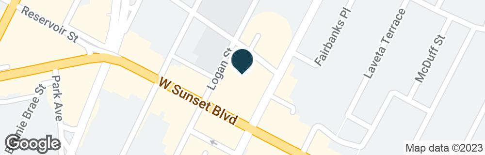 Google Map of1625 W SUNSET BLVD
