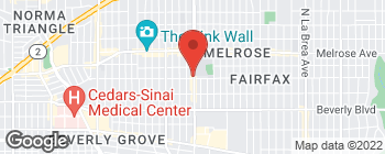 Map of 509 N Fairfax Ave in Los Angeles