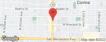 Map of 550 N Azusa Ave in West Covina
