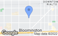 Map of Bloomington, CA