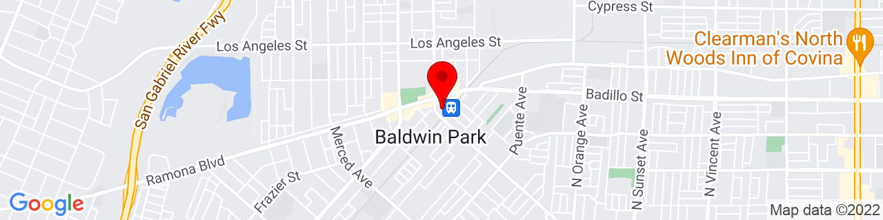 Google Map of 34.085413, -117.9594741