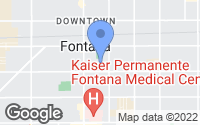 Map of Fontana, CA