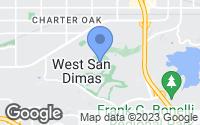Map of San Dimas, CA