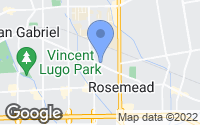 Map of Rosemead, CA