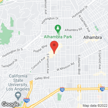 Map of Panera Bread at 2300 W Commonwealth Ave, Alhambra, CA 91803