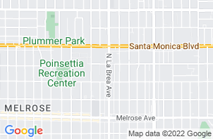 West Hollywood Mattress Store  Location Map