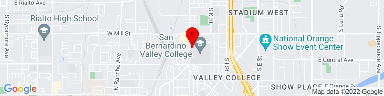 Google Map of 34.0887375, -117.3129671