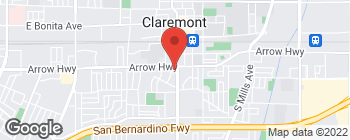 Map of 323 S Indian Hill Blvd in Claremont
