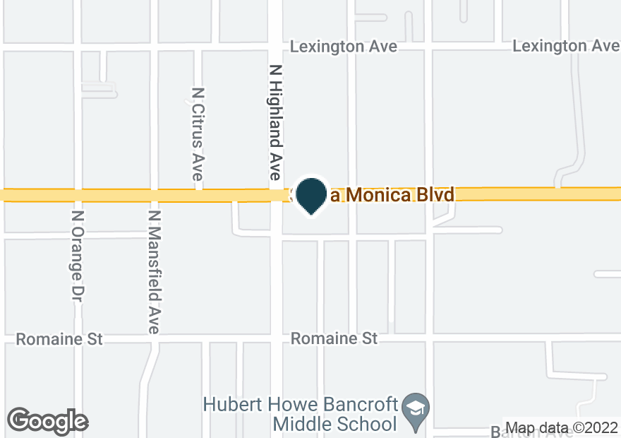 Google Map of1050 N HIGHLAND AVE