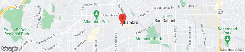 Map of 369 W Main St in Alhambra