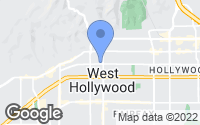 Map of West Hollywood, CA