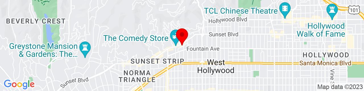 Google Map of 34.0951388, -118.3720216