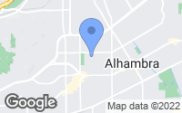 Map of Alhambra, CA