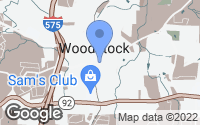 Map of Woodstock, GA