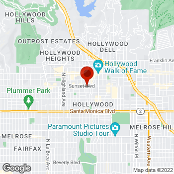 Map of Staples® Print & Marketing Services at 6450 Sunset Blvd, Hollywood, CA 90028