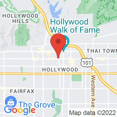 Map showing Groundwork Coffee (HOLLYWOOD)