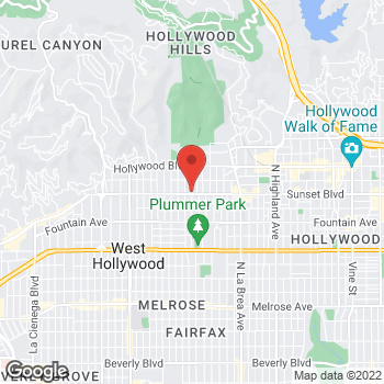 Map of Guitar Center at 7425 Sunset Blvd, Hollywood, CA 90046