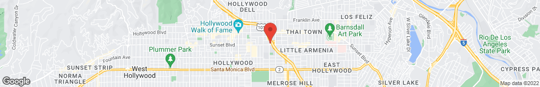 Map of 5751 Sunset Blvd in Los Angeles