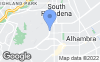 Map of South Pasadena, CA