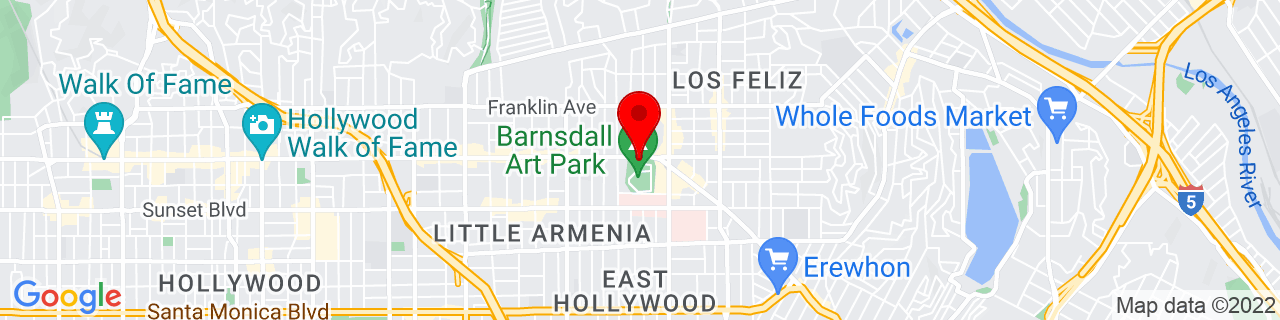 Google Map of 34.1015282, -118.2943343