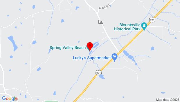 Google Map of 2340 County Highway 55 , Blountsville, AL 35031