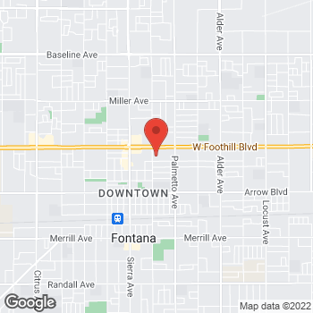 Map of Check `n Go at 17151 Foothill Boulevard, Fontana, CA 92335