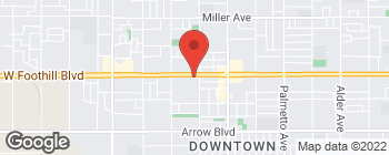 Map of 16689 Foothill Blvd in Fontana