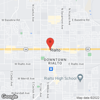Map of Check `n Go Foothill Boulevard at 229 West Foothill Boulevard, Rialto, CA 92376