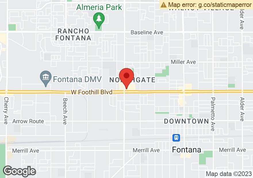 Google Map of 16108 FOOTHILL BLVD