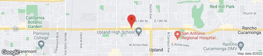 Map of 825 W Foothill Blvd in Upland