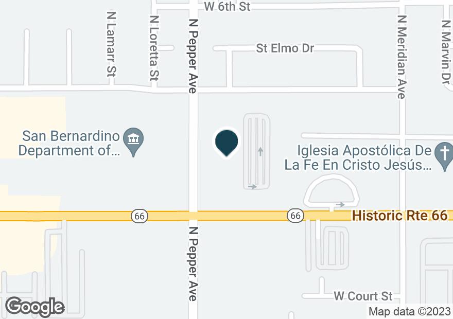 Google Map of918 E FOOTHILL BLVD