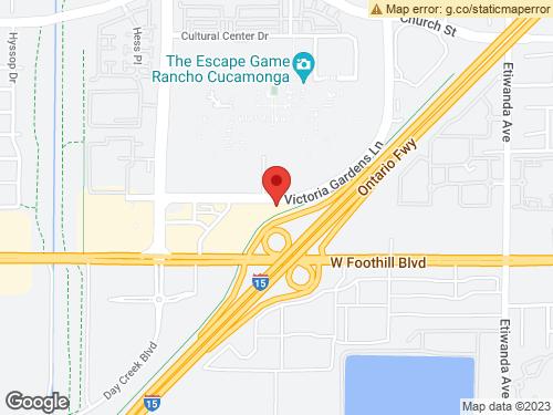 View Map of the design studio in San Bernardino County, CA