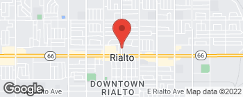 Map of 437 N Riverside Ave in Rialto