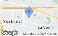 Map of La Verne, CA
