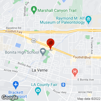 Map of Staples® Print & Marketing Services at 2330 Foothill Blvd., La Verne, CA 91750
