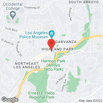 Map of Taco Bell at 6060 North Figueroa Street, Highland Park, CA 90042