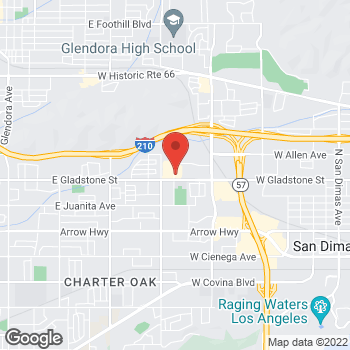 Map of Staples at 1391 East Gladstone Street, Glendora, CA 91740