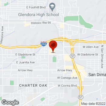 Map of Staples® Print & Marketing Services at 1391 East Gladstone Street, Glendora, CA 91740