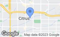 Map of Azusa, CA