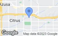Map of Glendora, CA