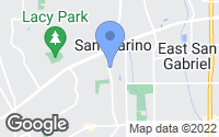Map of San Marino, CA