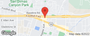 Map of 1445 Foothill Blvd in La Verne
