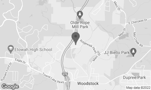 Map of 915 Ridgewalk Parkway in Woodstock