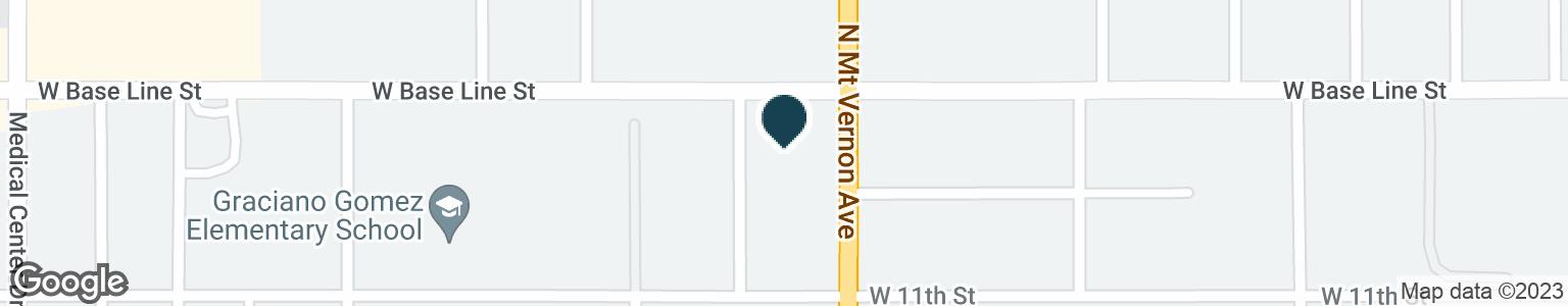 Google Map of1301 W BASE LINE ST