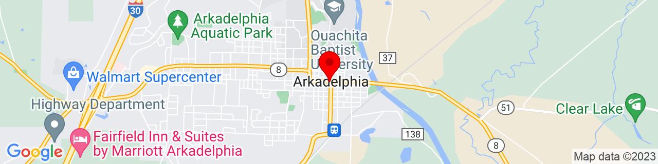 Google Map of 34.1209292, -93.0537839